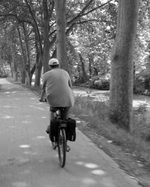 vélo sur la canal du midi