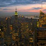 coucher de soleil New York