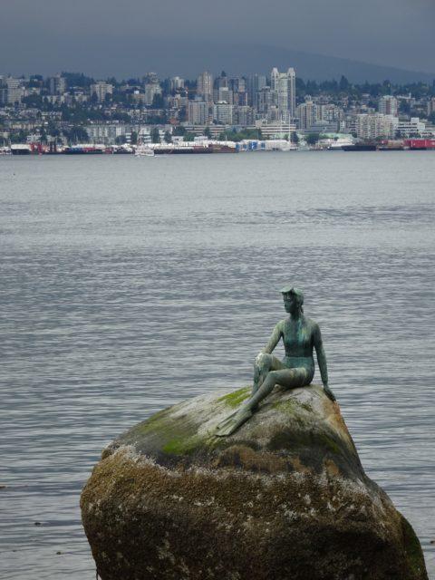 wet girl in suit Vancouver