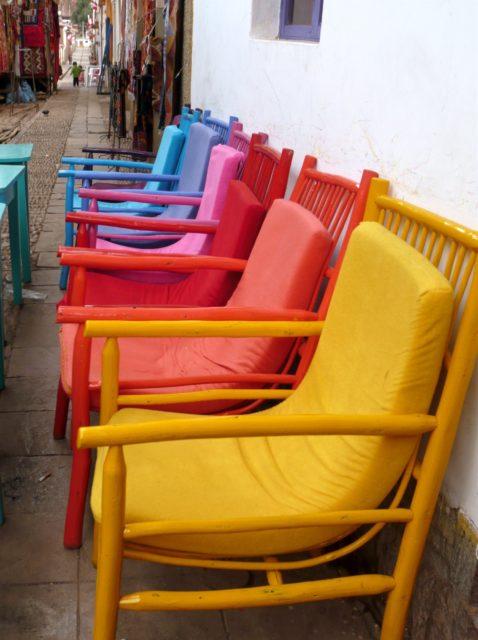 chaises colorées Mexique
